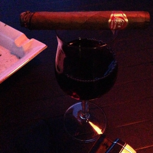 A good Partagas and a good wine