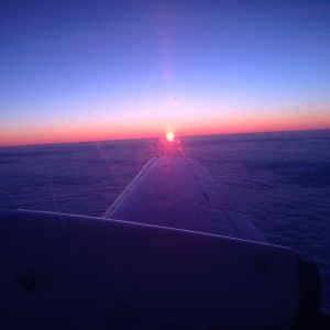 Sunrise in the sky