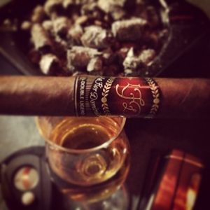 Having a LFD double ligero and rum after a spicy dinner