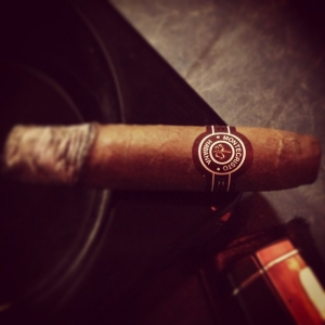 Having a nice Montecristo Petit No. 2