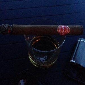 Some whisky and a Cuban cigar