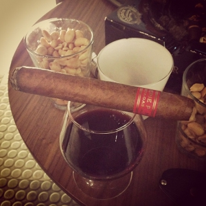 A Partagas P2 and some port