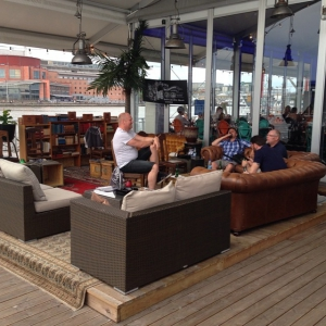 Trying the new cigarlounge at The Docks sponsored by Mellgrens Fine Tobacco