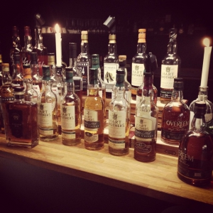 The range of drinks at yesterdays AW at Mellgrens Fine Tobacco