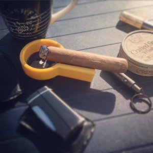 Sunny but windy to day. A HFC, coffee and some crafted snus