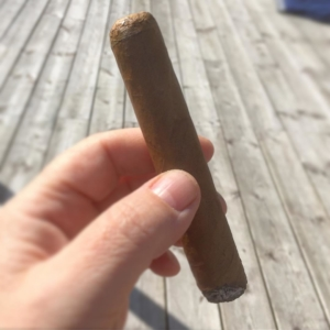 Yesterdays cigar in the sun