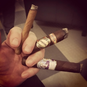 Tonights cigar tasting event with J.C. Newman Cigarco at Mellgrens Fine Tobacco – Three cigar at the same time