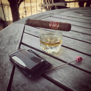 Easter Eve, cigar and a good bourbon